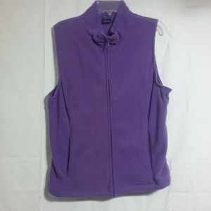 1 New size Large purple sleeveless woman jacket